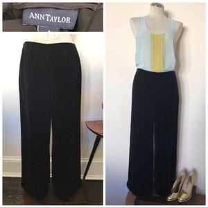 Ann Taylor high waisted velvet palazzo pants